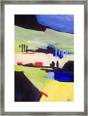 Framed Print featuring the painting Gweedore Beg by Ed  Heaton