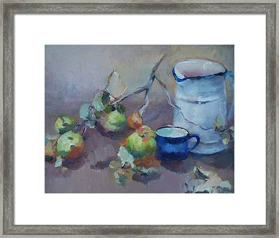 Gwen's Pitcher Framed Print by Ann Powers