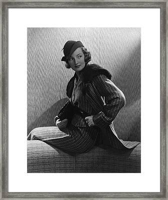 Gwili Andre Wearing Yvonne Carette Framed Print by Edward Steichen