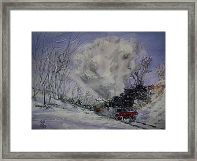 Gwr 4277 Framed Print by Carole Robins