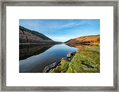Gwydyr Forest Lake Framed Print by Adrian Evans