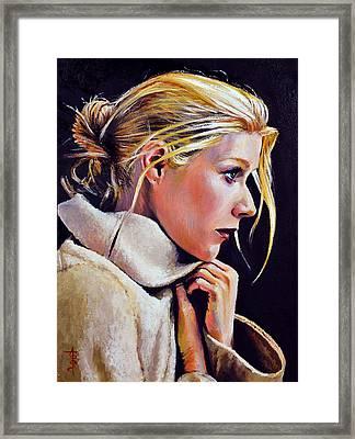 Gwyneth Framed Print by Anthony Sell