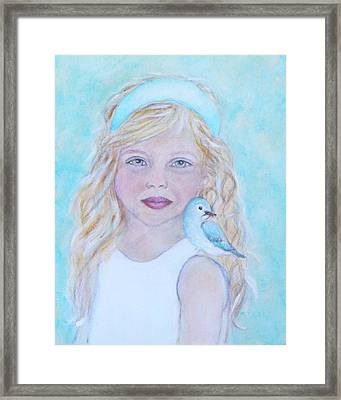 Gwyneth Little Earth Angel Of Happiness Framed Print by The Art With A Heart By Charlotte Phillips