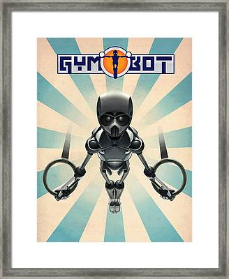 Gym-bot Rings Framed Print by Nicholas Bockelman