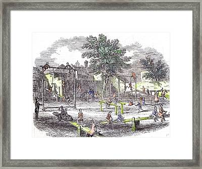 Gymnasia And Play Ground Of The Children Of The Infant Framed Print