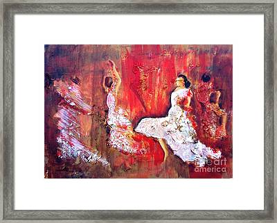 Gypsies In Granada Framed Print by Jolanta Shiloni