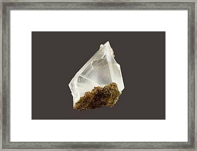 Gypsum Crystals Framed Print