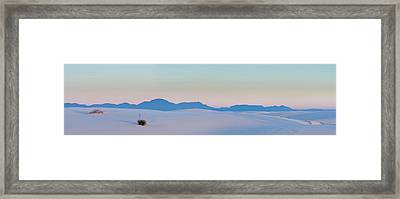 Gypsum Dunes At First Light Of Morning Framed Print by Panoramic Images