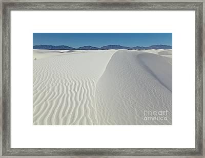 White Sands Gypsum Dunes Framed Print by Yva Momatiuk John Eastcott