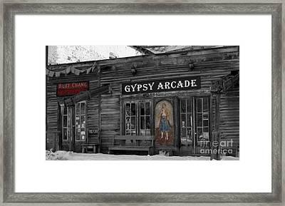 Gypsy Arcade Framed Print by Janice Westerberg