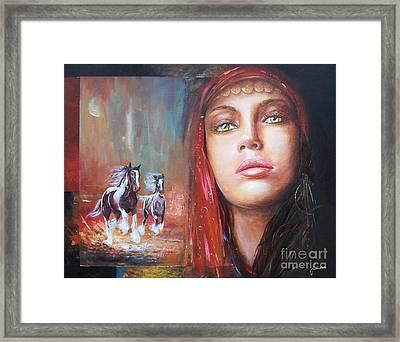 Gypsy Beauty Framed Print