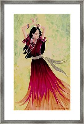 Gypsy Dancer Framed Print by Sophia Schmierer