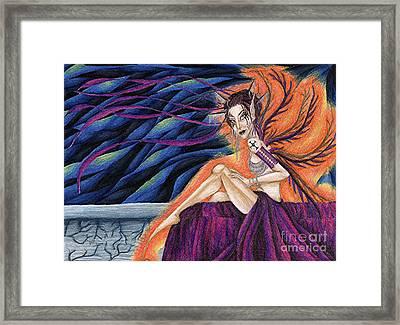 Gypsy Eyes Framed Print by Coriander  Shea