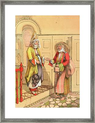 Gypsy Fortune Telling Framed Print
