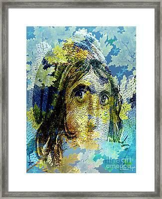Gypsy Girl Mosaic Framed Print