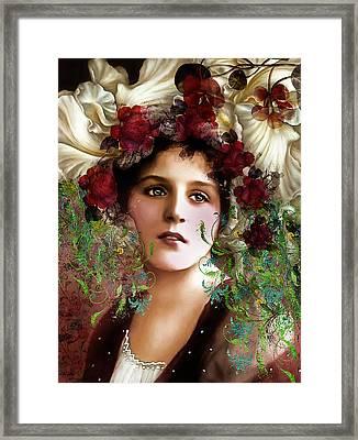 Gypsy Girl Of Autumn Vintage Framed Print