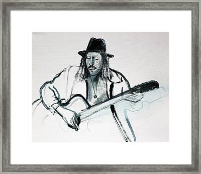 Gypsy Guitarist Framed Print by Asha Carolyn Young