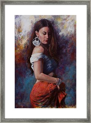 Gypsy Framed Print by Harvie Brown
