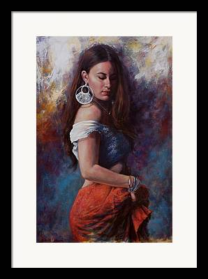 Red Skirt Framed Prints