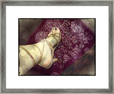 Gypsy Shoes Framed Print by Absinthe Art By Michelle LeAnn Scott