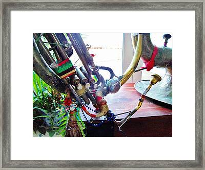 Gypsy Sousaphone Framed Print by Dale Michels