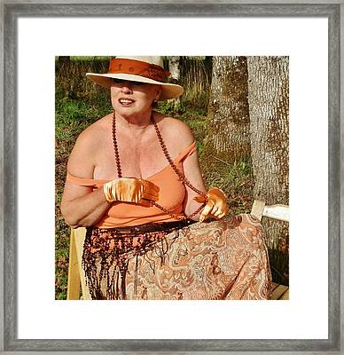 Gypsy Waiting Framed Print