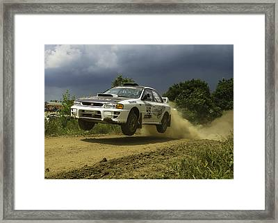 Gzb Rally Team In Flight Framed Print