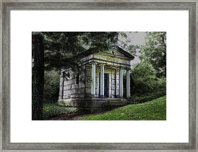 H C Ford Mausoleum Framed Print by Tom Mc Nemar