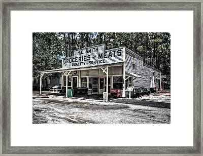 H C Smith's Groceries Heritage Village Framed Print