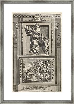 H. Cyprian Of Carthage, Jan Luyken, Zacharias Chatelain II Framed Print by Jan Luyken And Zacharias Chatelain (ii) And Fran?ois Halma