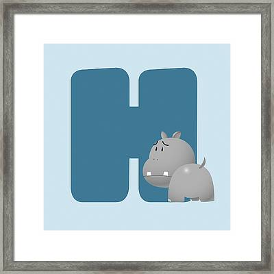 H Framed Print by Gina Dsgn