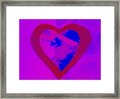 H-heart Framed Print by Dorothy Rafferty
