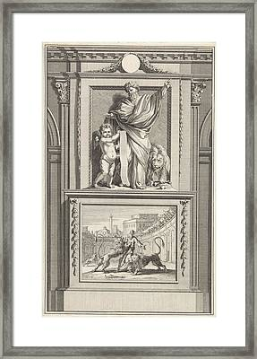 H. Ignatius Of Antioch, Apostolic Father Framed Print by Jan Luyken And Zacharias Chatelain (ii) And Jan Goeree
