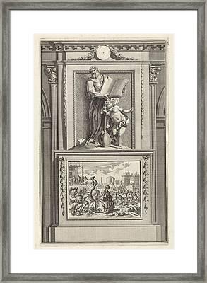H. Irenaeus Of Lyon, Church Father, Jan Luyken Framed Print by Jan Luyken And Zacharias Chatelain (ii) And Jan Goeree