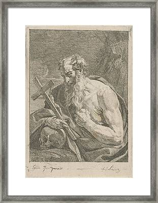 H. Jerome With A Crucifix, Francois Joseph Lonsing Framed Print by Artokoloro