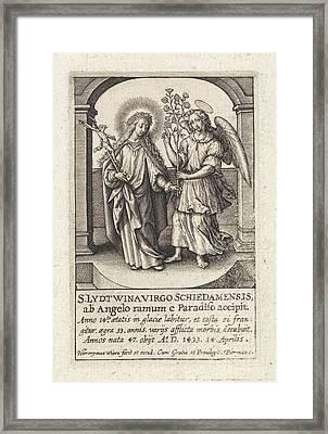 H. Lidwina Of Schiedam, The Netherlands, Hieronymus Wierix Framed Print