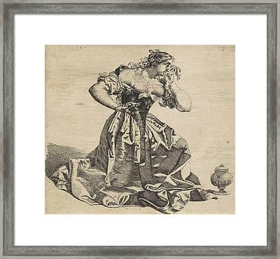 H Mary Magdalene, Monogrammist Chro Framed Print by Litz Collection