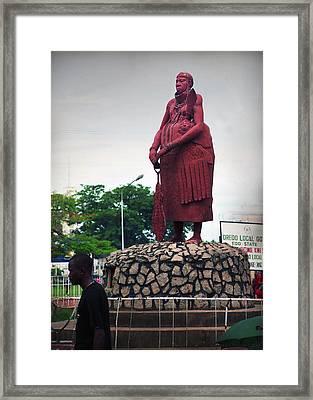 Edo Chief Statue Framed Print