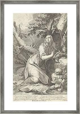 H Penitent Mary Magdalene Framed Print by Willem Isaacsz. Van Swanenburg And Cornelis Gijsbertsz. Plemp And Jacques Razet