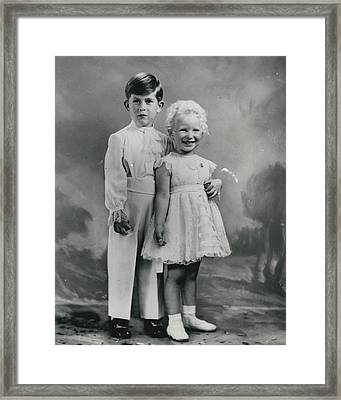 H. R. H. Princess Anne�s Third Birthday Framed Print by Retro Images Archive