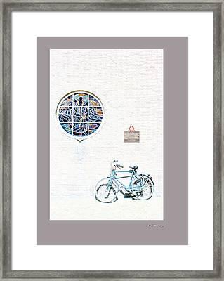 Haarlem Bike 3 Framed Print by Xoanxo Cespon