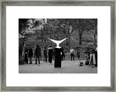 Habit In Central Park Framed Print
