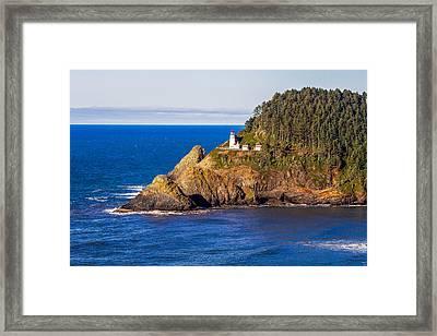 Haceta Head Lighthouse Framed Print