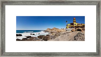 Hacienda Cerritos On The Pacific Ocean Framed Print by Panoramic Images