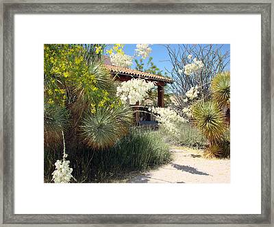 Framed Print featuring the photograph Hacienda by Linda Cox