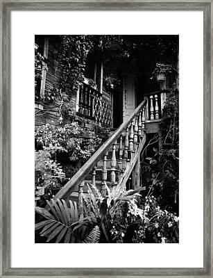Hacienda Stairway Framed Print by Ricardo J Ruiz de Porras