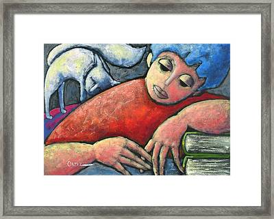 Haciendo Tareas En Mi Cuarto Framed Print