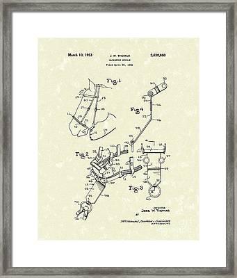 Hackamore Bridle 1953 Patent Art Framed Print