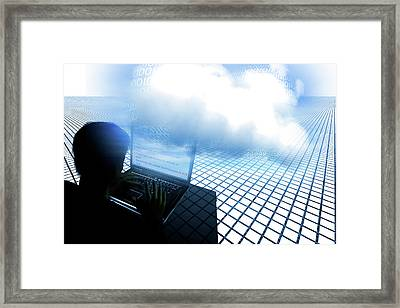 Hacking The Cloud Framed Print by Carol & Mike Werner