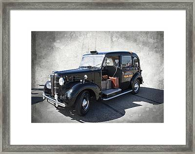 Hackney Carriage Austin Fx3 Of London C. 1955 Framed Print by Daniel Hagerman